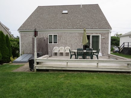 Sandwich Cape Cod vacation rental - Deck and outside shower off living area with gas grill