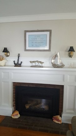 West Yarmouth Cape Cod vacation rental - Newly decorated interior.  (Working gas fireplace in living room)