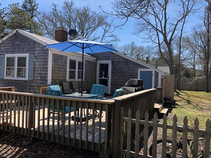 South Yarmouth Cape Cod vacation rental - New Back Deck