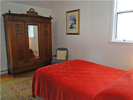 East Orleans Cape Cod vacation rental - Queen BR on main floor w/ cathedral ceiling & antique armoire