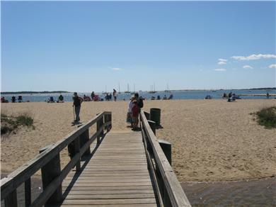 West Yarmouth Cape Cod vacation rental - Foot bridge to beach