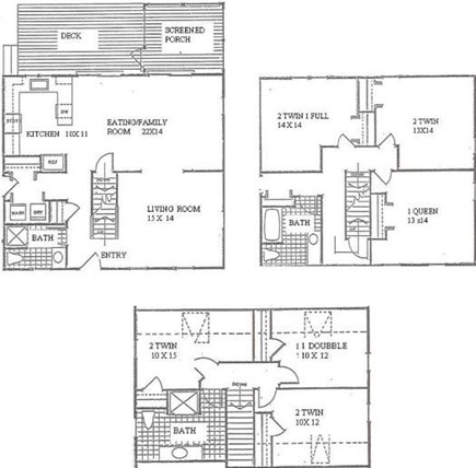 West Yarmouth Cape Cod vacation rental - Floor plans