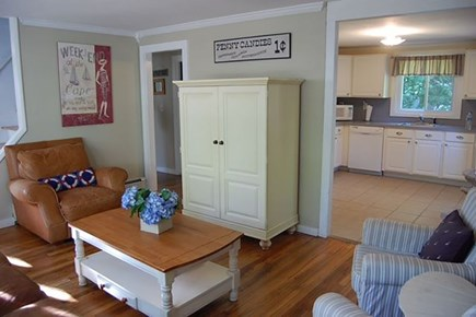 Hyannisport Cape Cod vacation rental - Living Room to Kitchen