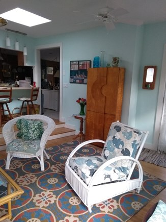 Wellfleet Cape Cod vacation rental - Living room and kitchen counter