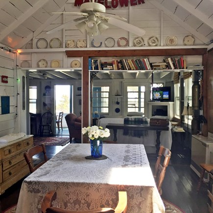 Provincetown, East End, Mayflo Cape Cod vacation rental - The dining area