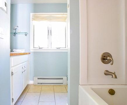 Wellfleet Cape Cod vacation rental - Upstairs full guest bathroom with deep soaking tub.