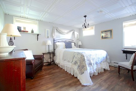Wellfleet Cape Cod vacation rental - #2 Downstairs large queen bedroom with French decor.