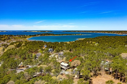 Wellfleet Cape Cod vacation rental - Bird's eye view of our proximity to Chipman's Cove & Indian Neck.