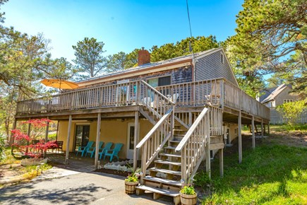 Wellfleet Cape Cod vacation rental - Cove View Cottage with wrap around deck and covered porch.