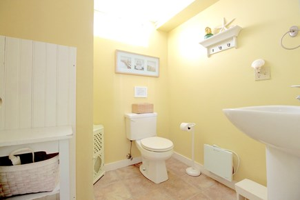 Wellfleet Cape Cod vacation rental - Downstairs - 1/2 bath.  There is an outdoor shower outside Bd. #4