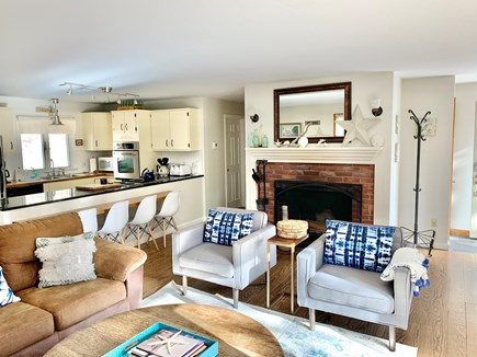 Wellfleet Cape Cod vacation rental - Upstairs main living area w/ kitchen & dining seating for 10.