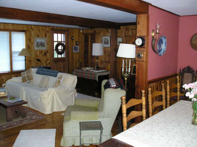 Eastham Cape Cod vacation rental - Spacious Living Room; picture window faces East