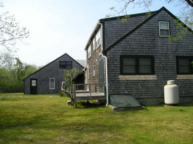 Eastham Cape Cod vacation rental - Back (west) of house, from the south