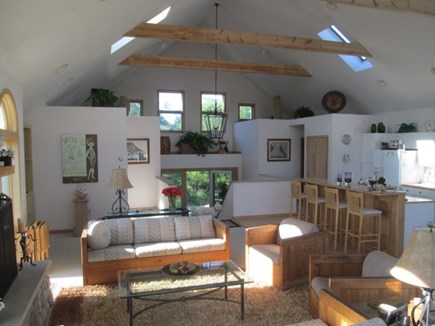 Truro Cape Cod vacation rental - View of Great Room - Kitchen & Living Room
