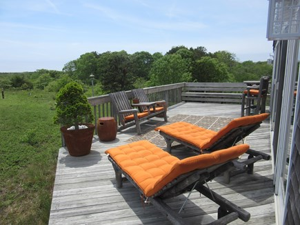 Truro Cape Cod vacation rental - View from Chaise Lounges off the Great-room Deck great views.