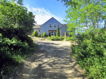 Truro Cape Cod vacation rental - Entrance to our home with a large driveway sits up on a Hill