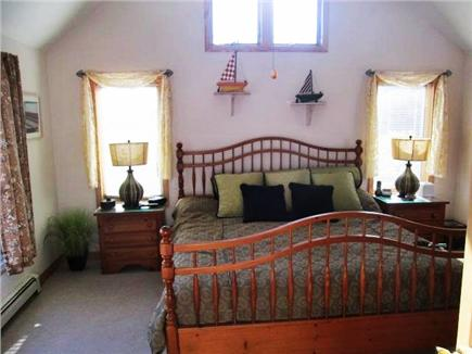 Truro Cape Cod vacation rental - Master Bedroom w/ vaulted ceiling and ceiling fan