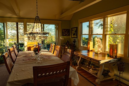 Provincetown Cape Cod vacation rental - Views of Cape Cod bay from the Dining Room