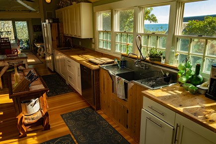 Provincetown Cape Cod vacation rental - Even the kitchen of Oasis House has a view of the bay..
