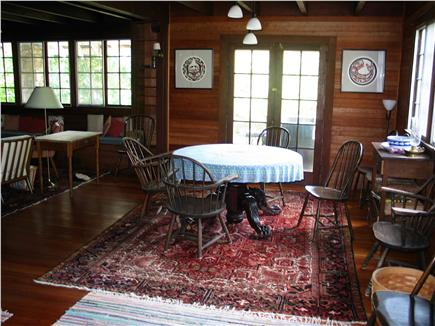 Woods Hole Woods Hole vacation rental - Dining area in large living-dining room, front of 1st floor