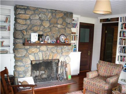 Woods Hole Woods Hole vacation rental - Fireplace in upstairs library