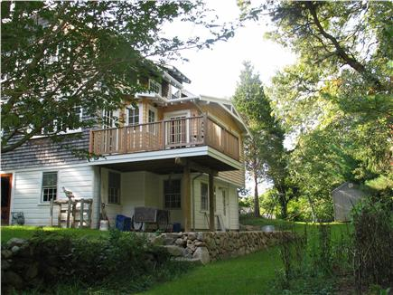 Woods Hole Woods Hole vacation rental - Back deck, opens onto kitchen & 1st floor bedroom.