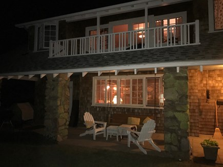 Woods Hole Woods Hole vacation rental - Front porch summer evening