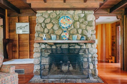 Woods Hole Woods Hole vacation rental - Fieldstone fireplace