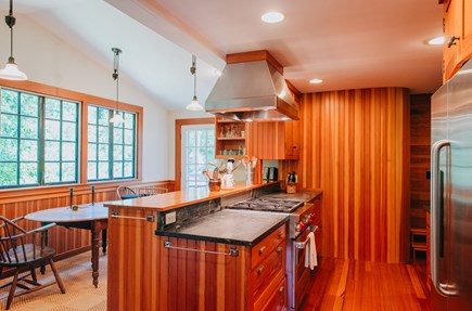 Woods Hole Woods Hole vacation rental - Modern remodeled kitchen, with door to back deck