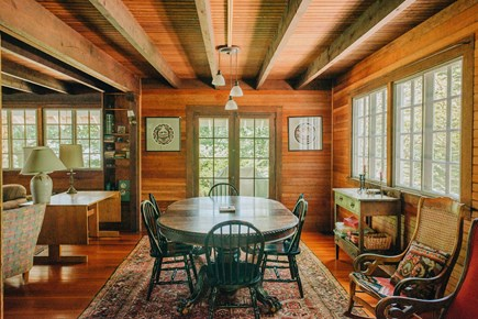 Woods Hole Woods Hole vacation rental - Dining room with french doors to front porch