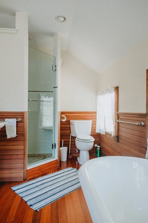 Woods Hole Woods Hole vacation rental - Master bathroom, featuring bath, shower, and walk-in closet