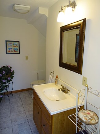 North Falmouth Cape Cod vacation rental - Lower level bathroom, full upstairs