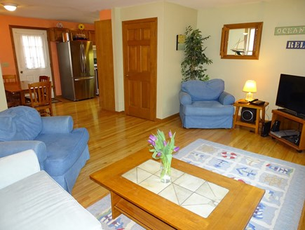 North Falmouth Cape Cod vacation rental - Living room with flat screen TV