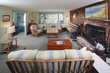 Chatham Cape Cod vacation rental - First floor living room with fireplace