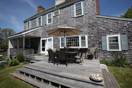 Chatham Cape Cod vacation rental - Sunny first floor deck for outdoor dining and relaxing