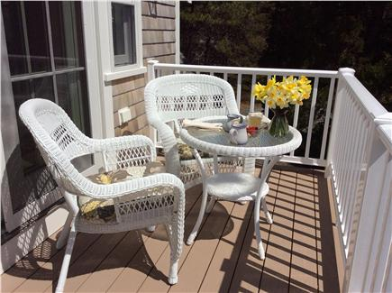 East Orleans Cape Cod vacation rental - Private balcony off upstairs master with distant view of ocean