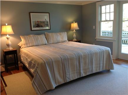 East Orleans Cape Cod vacation rental - Main floor king bedroom with bath and large, private deck