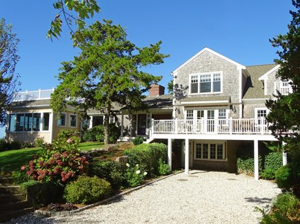 East Orleans Cape Cod vacation rental - View of home from lane, over an acre of land