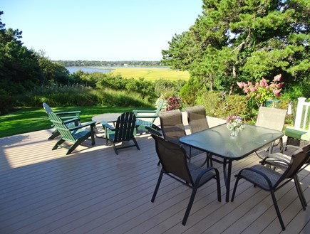 East Orleans Cape Cod vacation rental - Deck overlooking the bay -- lots of room for entertaining