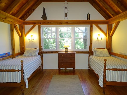 East Orleans Cape Cod vacation rental - Main floor twin room with lofted ceiling