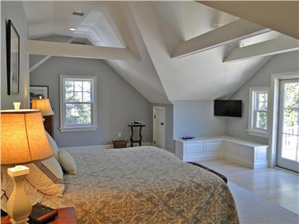 East Orleans Cape Cod vacation rental - Master bedroom upstairs with private bath, deck
