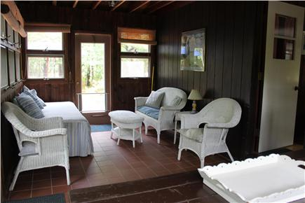 North Eastham Cape Cod vacation rental - Sun room - sitting area with twin daybed
