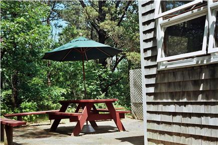 North Eastham Cape Cod vacation rental - Patio from porch side of house