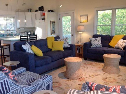 Provincetown, East End Cape Cod vacation rental - Large open plan living area with cathedral ceiling