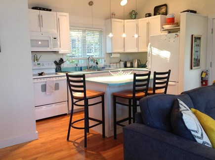 Provincetown, East End Cape Cod vacation rental - Fully equipped kitchen with island/breakfast bar