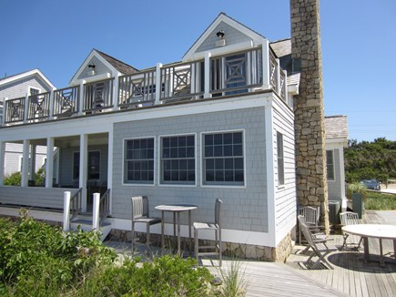 East Dennis Cape Cod vacation rental - Beachfront House Rear View