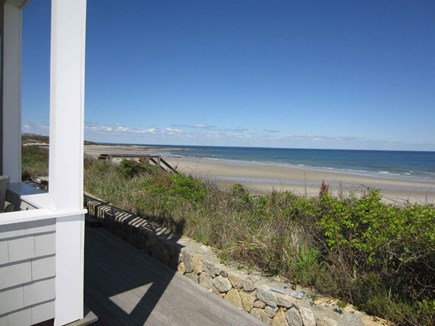 East Dennis Cape Cod vacation rental - Overlooking gorgeous beach with stairs to access it