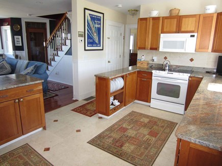 East Dennis Cape Cod vacation rental - Full kitchen view with living beyond
