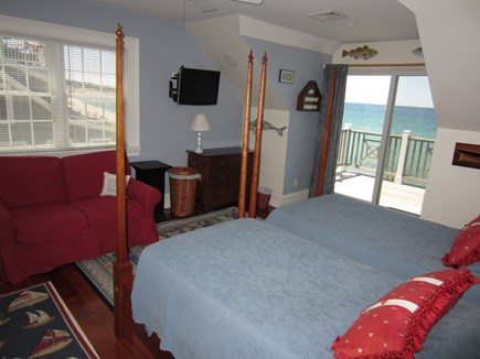 East Dennis Cape Cod vacation rental - Bedroom 2 with slider to deck