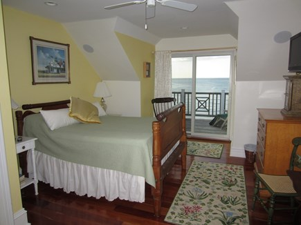 East Dennis Cape Cod vacation rental - Bedroom 3 with slider to deck